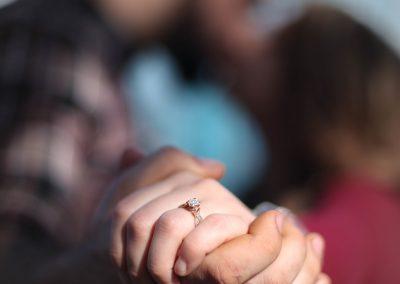 Chattanooga walking bridge photography couples engagement
